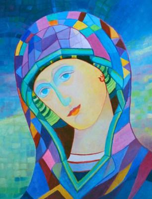 Matka Boska Niebieska – obraz olejny