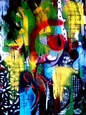 Abstrakcja z wycinanką