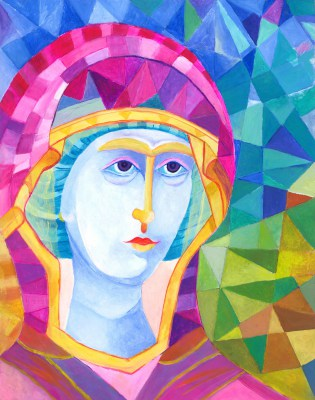 Ikona Madonna Mozaikowa Surowa Atena