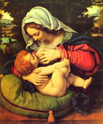 Andrea Solario, Madonna karmiąca