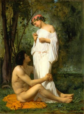William-Adolphe Bouguereau - obraz Idylla