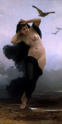 William Adolphe Bouguereau - obraz Noc - reprodukcja