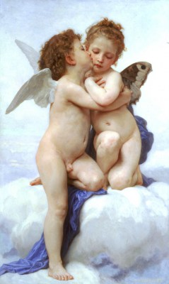 William Adolphe Bouguereau Pierwszy pocałunek