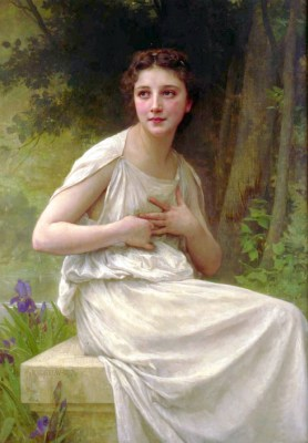 William Adolphe Bouguereau – Refleksja – reprodukcja