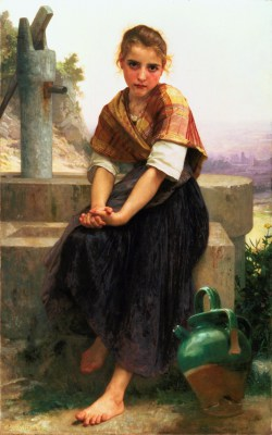 William Adolphe Bouguereau – Rozbity dzban – reprodukcja