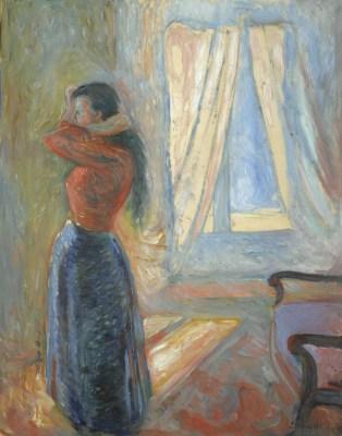 Edvard Munch, Kobieta przeglądająca się w lustrze