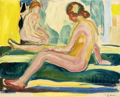 Edvard Munch, Siedzące nagie kobiety