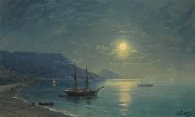 Iwan Ajwazowski, Księżyc nad zatoką