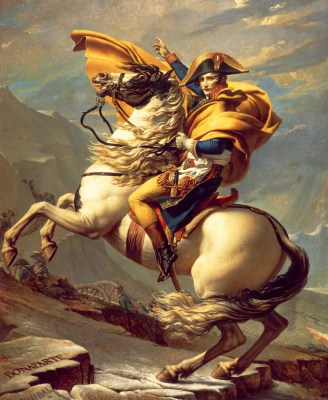 Napoleon na koniu, Jacques-Louis David