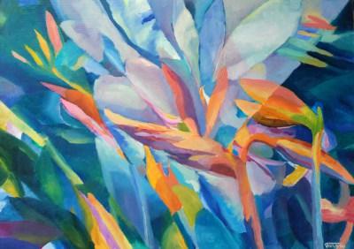 Obrazy olejne kwiaty – strelicje