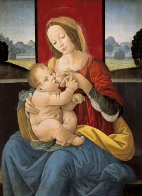 Lorenzo di Credi, Madonna karmiąca