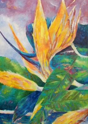 Obrazy z kwiatami – strelicje