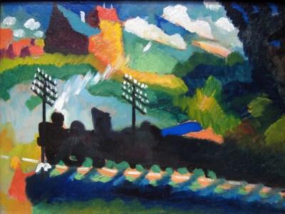 Wassily Kandinsky, Linia kolejowa pod Murnau