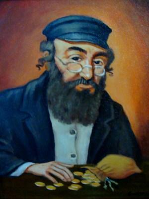 Żyd liczący pieniądze